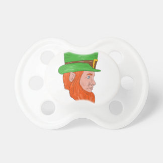 Leprechaun Head Side Drawing Pacifier