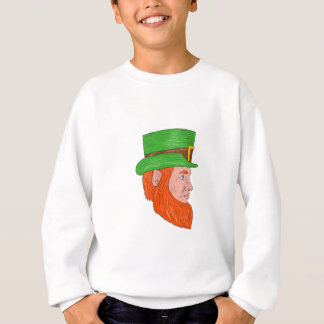 Leprechaun Head Side Drawing Sweatshirt