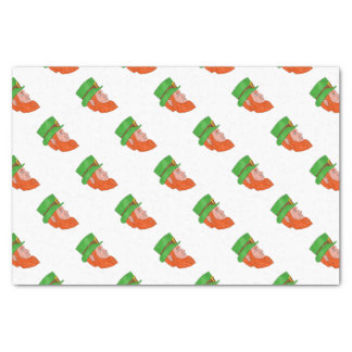 Leprechaun Head Side Drawing Tissue Paper