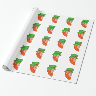 Leprechaun Head Side Drawing Wrapping Paper