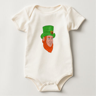 Leprechaun Head Three Quarter View Drawing Baby Bodysuit