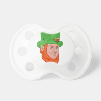 Leprechaun Head Three Quarter View Drawing Baby Pacifier
