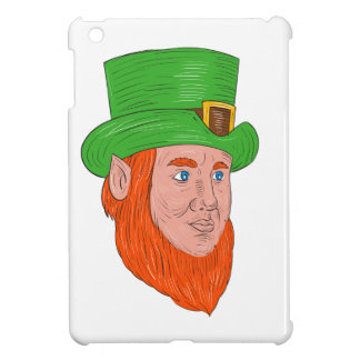 Leprechaun Head Three Quarter View Drawing Case For The iPad Mini