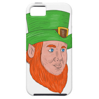 Leprechaun Head Three Quarter View Drawing iPhone 5 Case