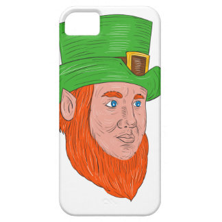 Leprechaun Head Three Quarter View Drawing iPhone 5 Cases