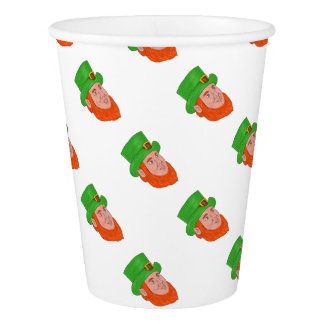 Leprechaun Head Three Quarter View Drawing Paper Cup