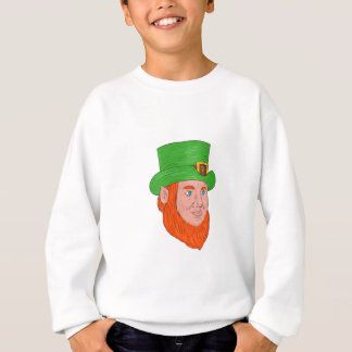 Leprechaun Head Three Quarter View Drawing Sweatshirt
