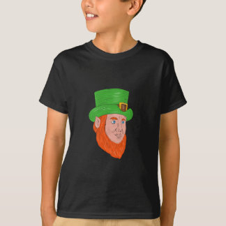 Leprechaun Head Three Quarter View Drawing T-Shirt