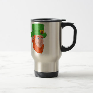 Leprechaun Head Three Quarter View Drawing Travel Mug
