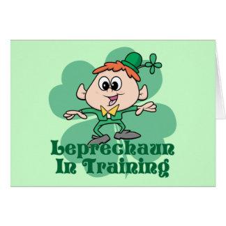 Leprechaun In Training Card
