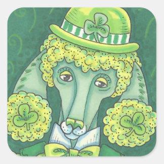LEPRECHAUN IRISH POODLE, DOG STICKERS *Sheet