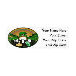 Leprechaun Kilroy Address Label