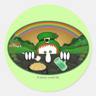 Leprechaun Kilroy Sticker