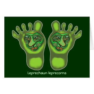 Leprechaun leprecorns card