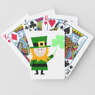 Leprechaun Lucky Clover Man Bicycle Playing Cards