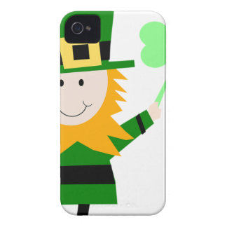 Leprechaun Lucky Clover Man Case-Mate iPhone 4 Case