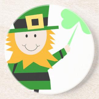 Leprechaun Lucky Clover Man Coaster