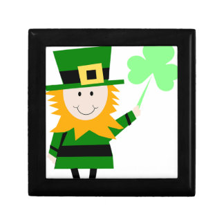 Leprechaun Lucky Clover Man Gift Box