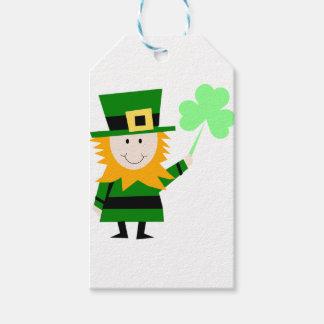 Leprechaun Lucky Clover Man Gift Tags