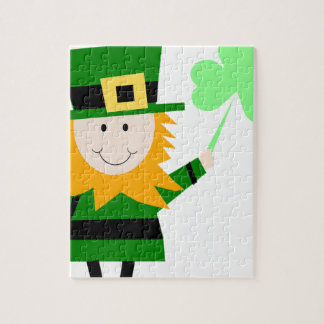 Leprechaun Lucky Clover Man Jigsaw Puzzle