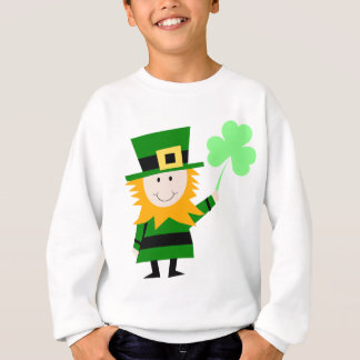 Leprechaun Lucky Clover Man Sweatshirt
