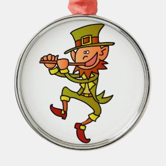 leprechaun metal ornament