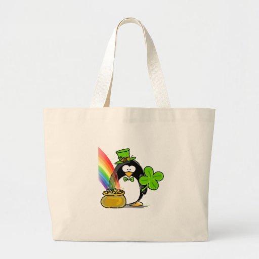 Leprechaun Penguin Canvas Bag