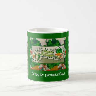 Leprechaun & Shamrocks Happy St. Patrick's Day Mug