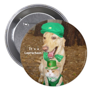 Leprechaun Sighting 3 Inch Round Button