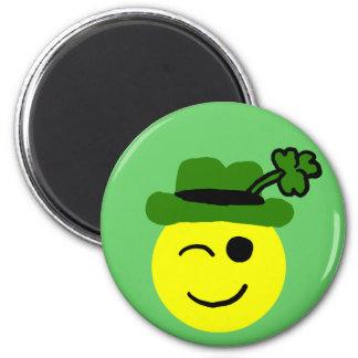Leprechaun smiley magnet