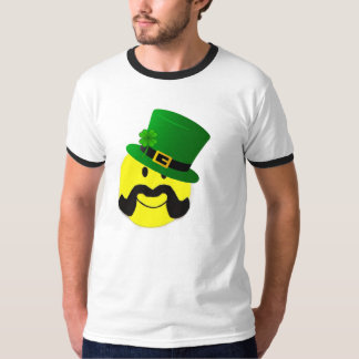 Leprechaun Smiley Mustache T-Shirt