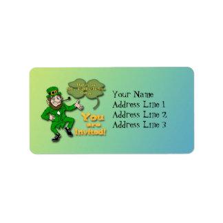 Leprechaun St Paddy s Day Invitation Address Label