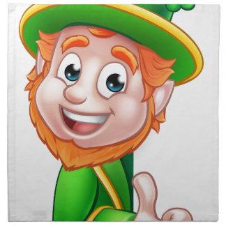 Leprechaun St Patricks Day Cartoon Mascot Napkin