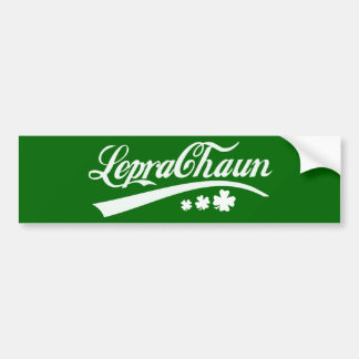 Leprechaun St Patricks Day Irish Shamrock Bumper Sticker