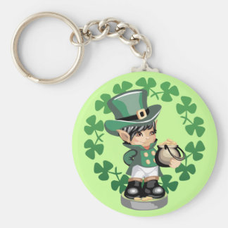 Leprechaun With A Pot Of Gold Keychain