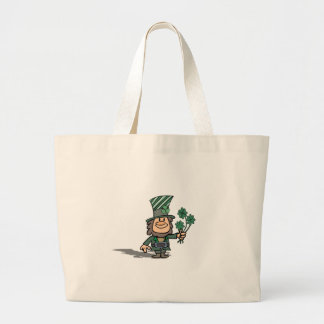 Leprechaun With Clovers Bags