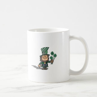 Leprechaun With Clovers Coffee Mug