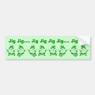 Leprechauns Dancing an Irish Jig Bumper Stickers