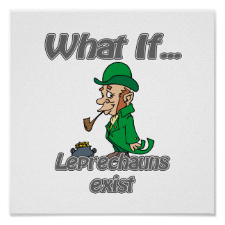 leprechauns exist poster
