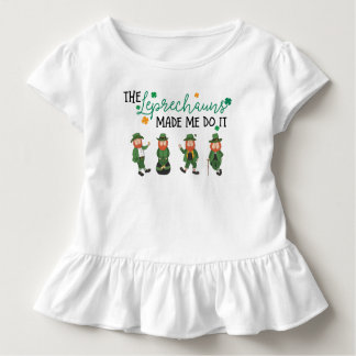 Leprechauns made me toddler t-shirt