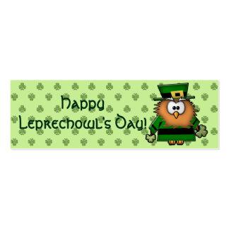 leprechowl business card template