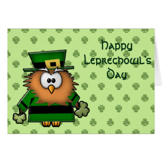 leprechowl greeting card