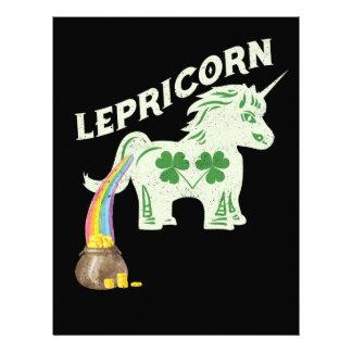 Lepricorn St Pattys Leprechaun Unicorn Letterhead