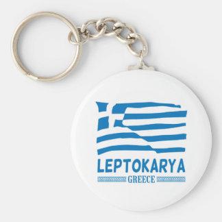 Leptokarya Basic Button Key Ring