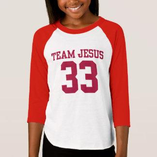 L'équipe PERSONNALISÉE JÉSUS #33 FOLÂTRE la pièce T-shirt