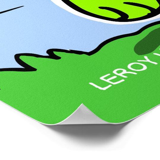 LeRoy Lizard Poster