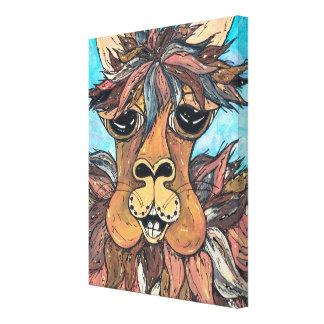 Leroy the Llama Canvas Print