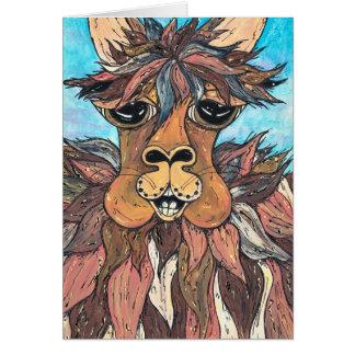 Leroy the Llama card