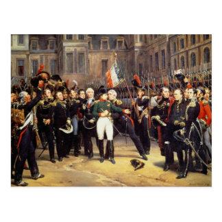 Les Adieux de Fontainebleau, 20th April 1814 Postcard