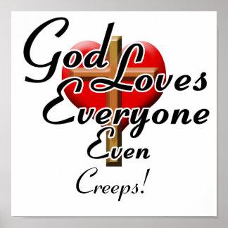 Les amours de Dieu rampe ! Posters